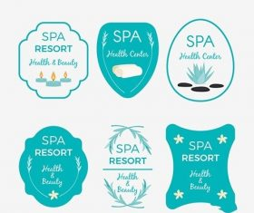 Collection of nice logos spa vector