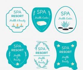 Collection of nice logos spa vector