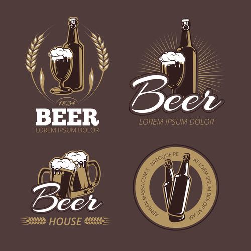 Color beer labels vector