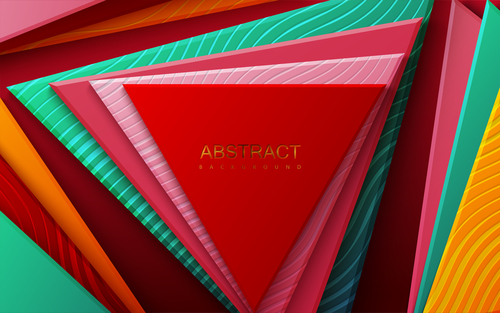 Colorful concentric abstract geometric background vector