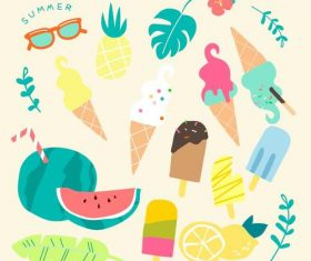 Colorful fun summer collection vector