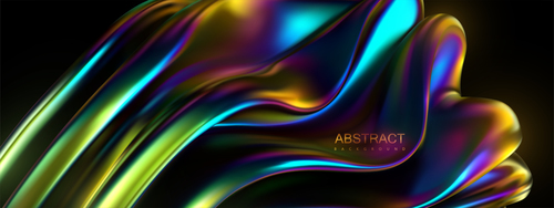 Colorful liquid abstract background vector