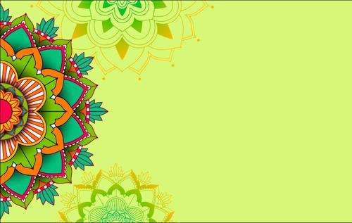Colorful mandala pattern vector