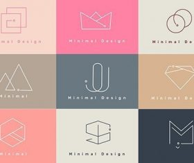 Colorful minimal design logo collection vectors