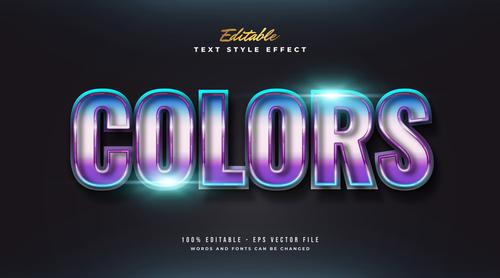Colors editable font vector