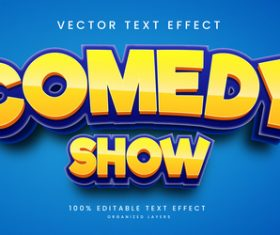 Comedy show diet text effect editable vector