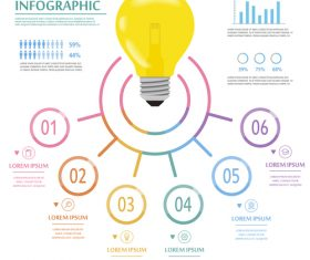 Concept infographic vector