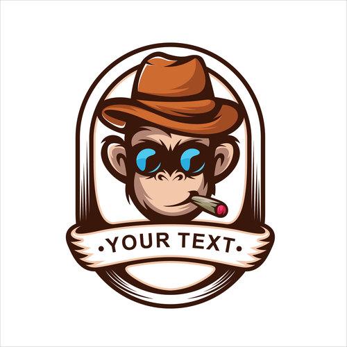 Cool monkey logo vector