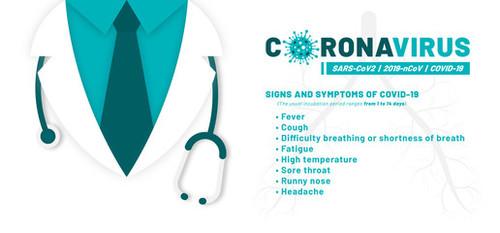 Coronavirus harms you and me vecto