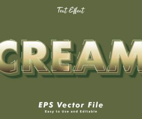 Cream font editable font vector