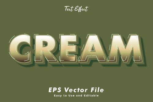 Cream font editable font vector
