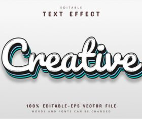 Creative font text effect editable vector
