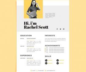 Creative minimalist cv templates vector