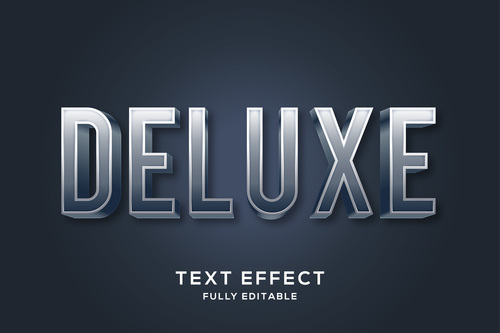Deluxe 3d editable text style effect vector