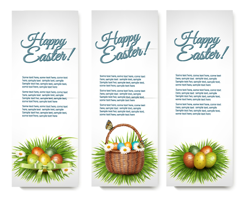 Design Easter banners vector