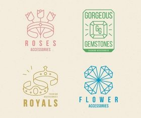 Design fashion accessories logo set vector