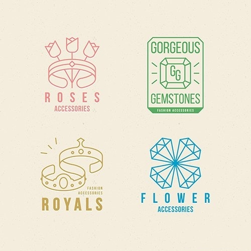 Design fashion accessories logo set vector