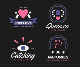 Design fashion logo collection vector