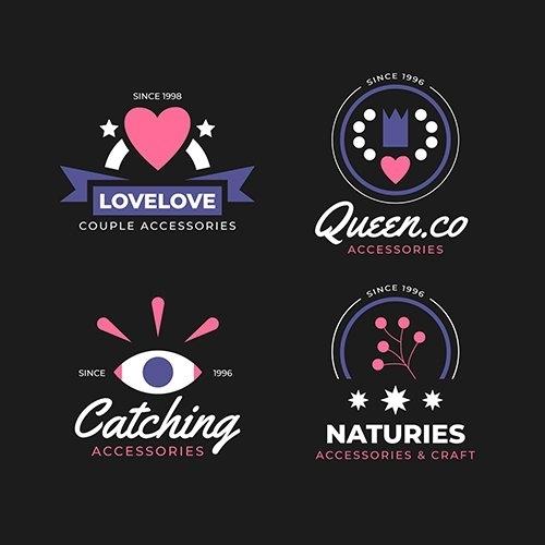 Design fashion logo collection vector
