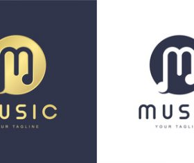 Design music logo vector