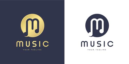 Design music logo vector