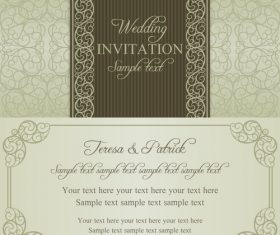 Design wedding vector invitation card