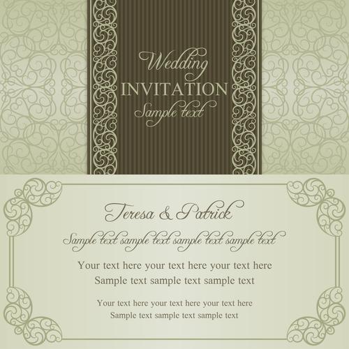Design wedding vector invitation card