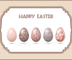 Different painted pattern easter eggs vector