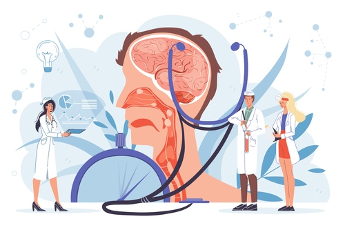 Doctor at work and treatment concept vector