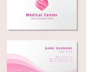 Doctor business card design vector
