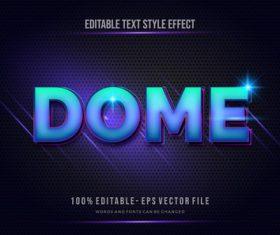Dome editable text effect vector