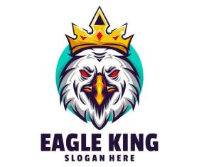 Eagle king logo vector