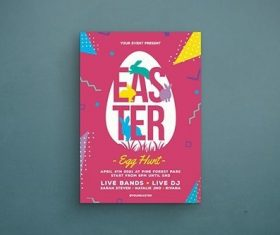 Cover easter party vector