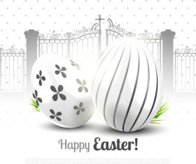 Easter black white vector