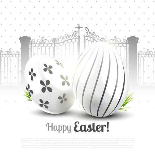 Easter black white vector