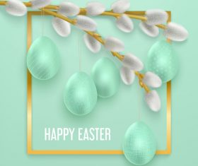Easter egg decoration pendant vector