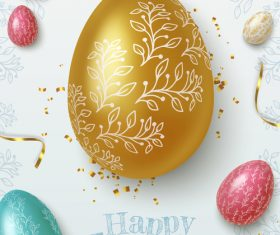 Easter eggs vector painted with different patterns