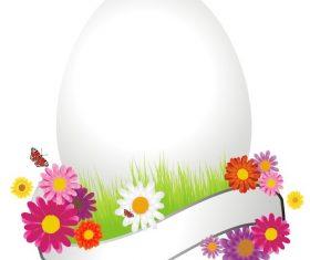 Easter huge egg vector