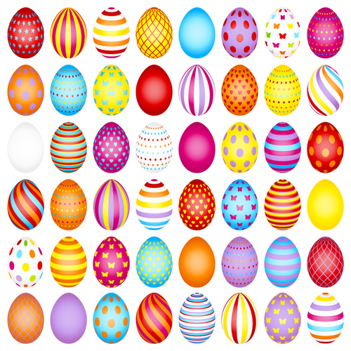 Easter painted background vector