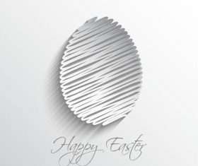 Easter paper cut egg vector