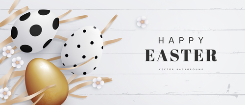 Easter poster flyers and greeting cards vector
