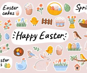 Easter sticker vector
