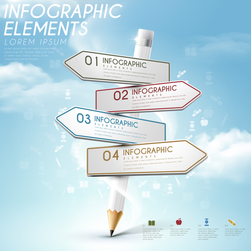 Education options infographic concept vector