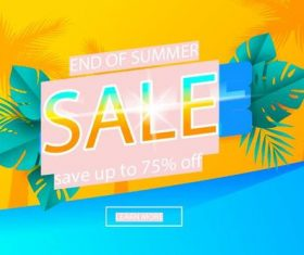 End of summer sale vector