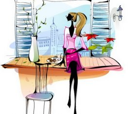 Enjoy life illustration vector