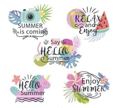 Enjoy summer vector
