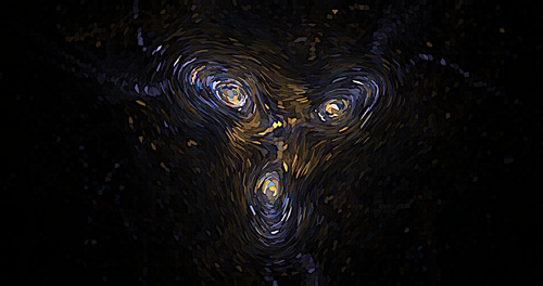 Face post Impressionist abstract background vector