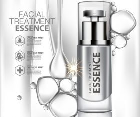 Facial treatment cosmetics vector
