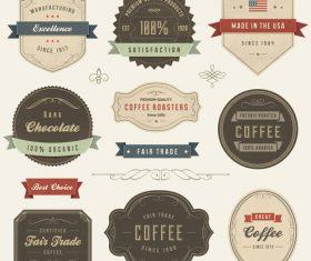 Fair trade label vector