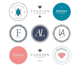 Fashion accessories logo set vector